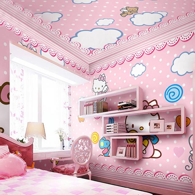 New Custom Children S Room Wallpaper Baby Girl Bedroom Tv