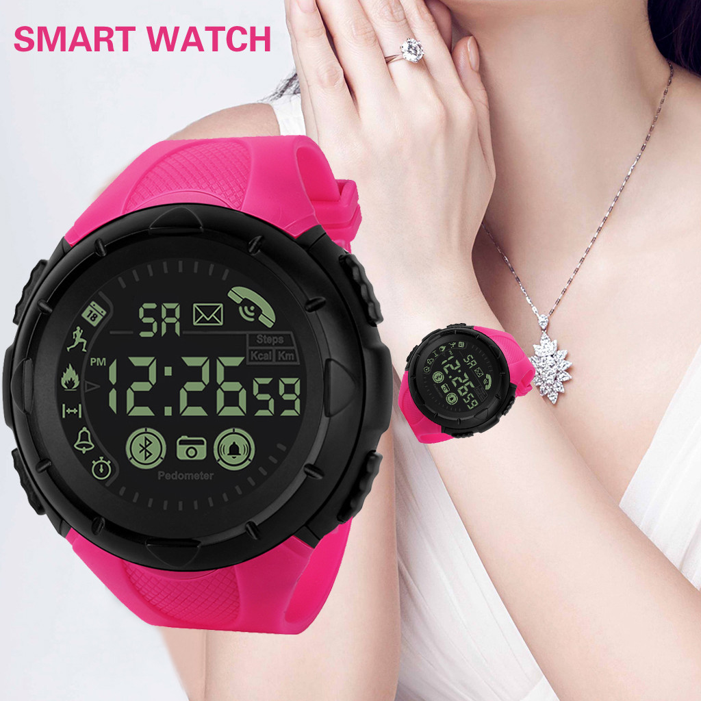 Mooi Mode Toevallige Mannen Smart Horloge Bluetooth Digitale Sport Digitale Mens Klok Polshorloge Waterdicht Relogio Masculino Digitale Ld Duurzaam In Gebruik