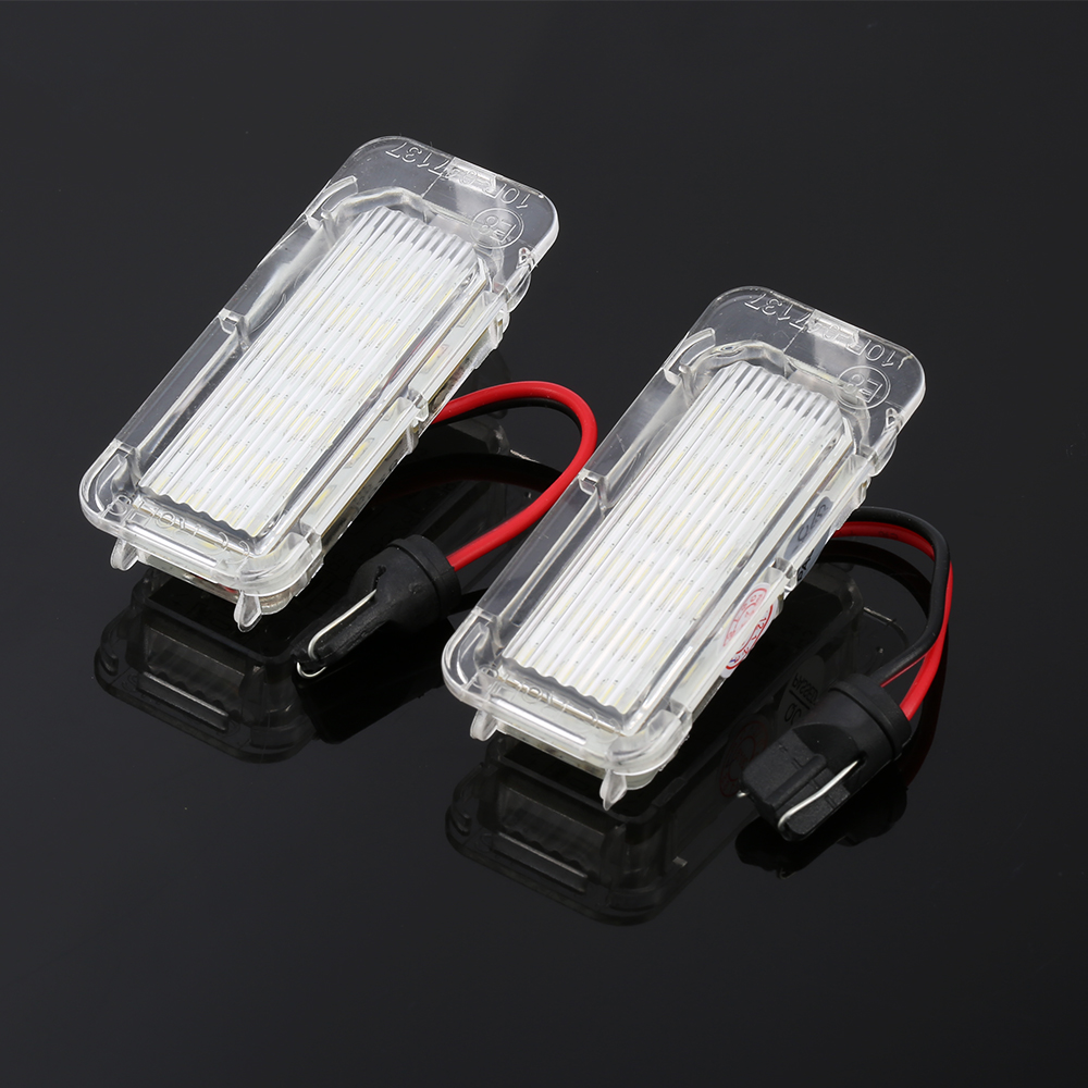 2 Pieces LED License Plate Light Car Truck License Number Plate Light For Focus 3 C MAX S MAX Mondeo 4 Galaxy KUGA 7903 Fiesta