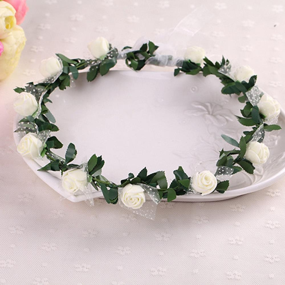 2019 Sale Plant Hot Women Girl Bride Hair Wreaths Flower Headband Rose Crown Forehead Floral Band For Party Wedding Hand Wreath