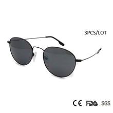 Sorbern Wholesales (3pcs/Lot) Sunglasses Women Men Brand Designer Fashion Alloy Metal Round Sun Glasses Ladies oculos de sol
