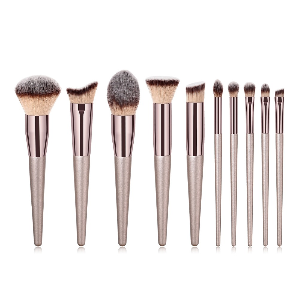 Sunny Elecool Handmade Rattan Tapered Make Up Brushes Black Powder Brush Professional Goat Hair Makeup Tool Makeup Beauty & Health