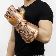 Avengers Infinity War Thanos Infinity Gauntlet Guantes de Cosplay PVC Figura de Acción Modelo Muñeca Juguetes Regalo Accesorios de Halloween