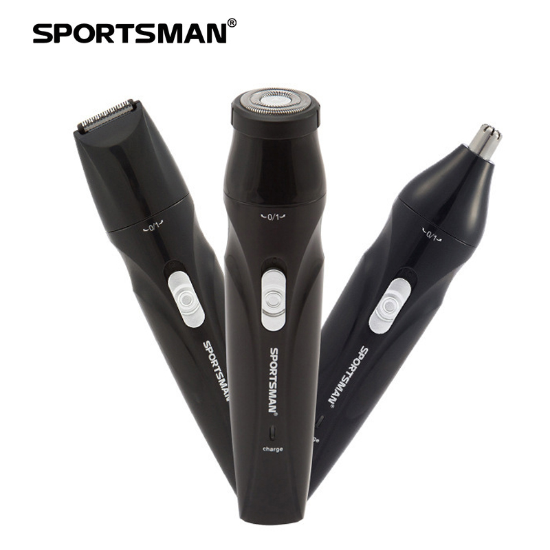 SPORTSMAN Men's 3 In 1 Electric Nose Hair Trimmer Razor Beard Trimmer Rechargeable Nose Hair Cutter Grooming Shaving Machine