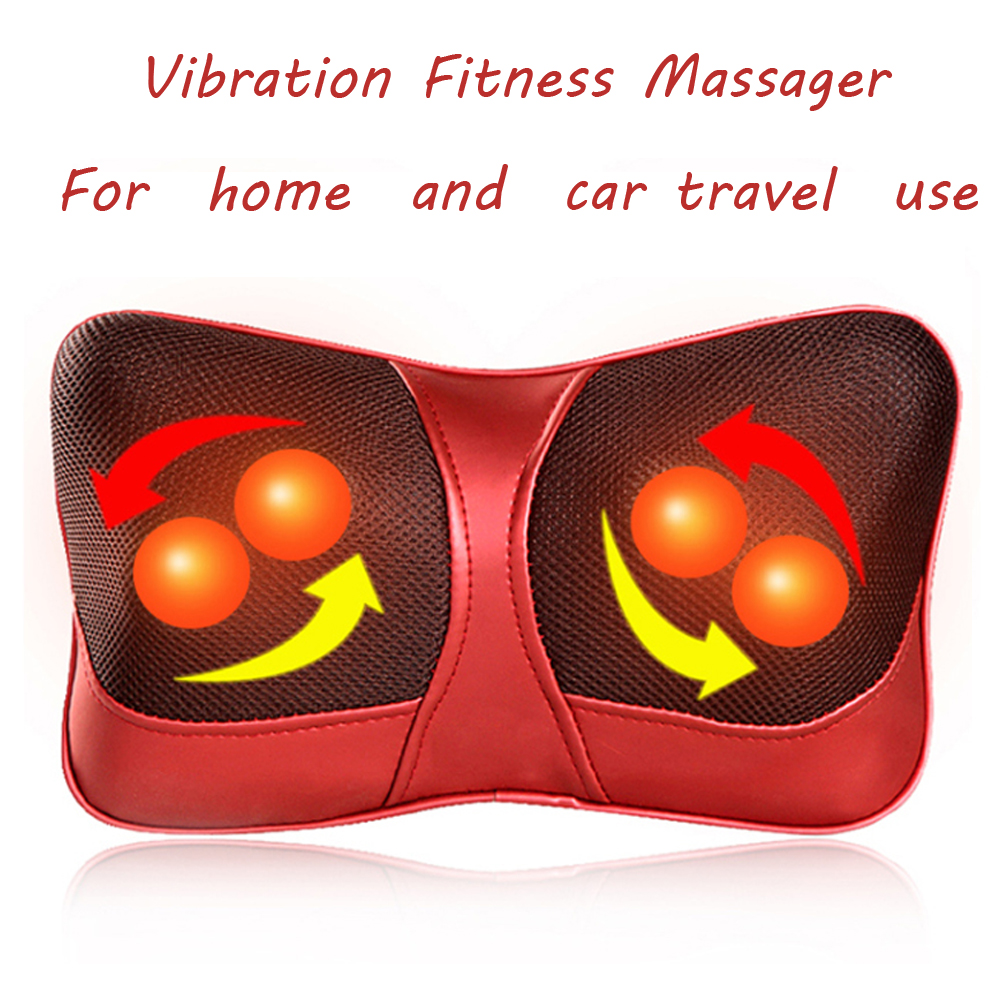 2015 vibration fitness massager infrared heating body neck massage pillow for weight loss universal for 110v