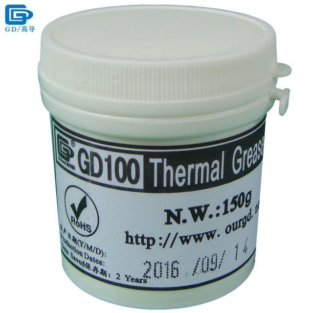 GD Brand Heat Sink Plaster Compound GD100 Thermal Conductive Grease Paste Silicone Net Weight 150 Grams White For CPU LED CN150