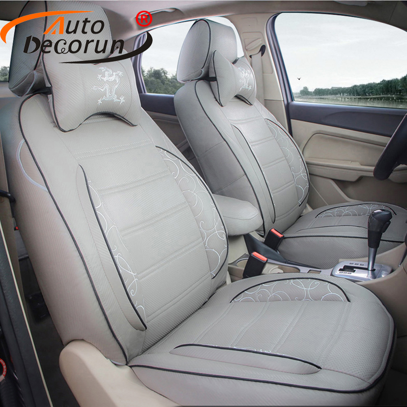 AutoDecorun PU leather cushion covers for Renault Laguna 2 seat covers set cars accessories 2009-2011 car seat supports protects
