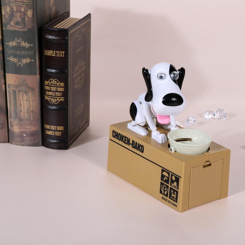 New Cartoon Dogs Pattern Stealing Coin Money Box Bank Storage Saving Box Money Banking Toy For Kids Favorite Birthday Gift