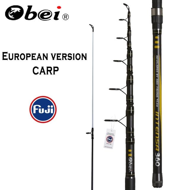 OBEI Carp Fishing Rod 3.3 3.6m Carbon Fiber Telescopic Spinning Rod pesca 3.25lb power 80-200g 11' 12' Hard Pole