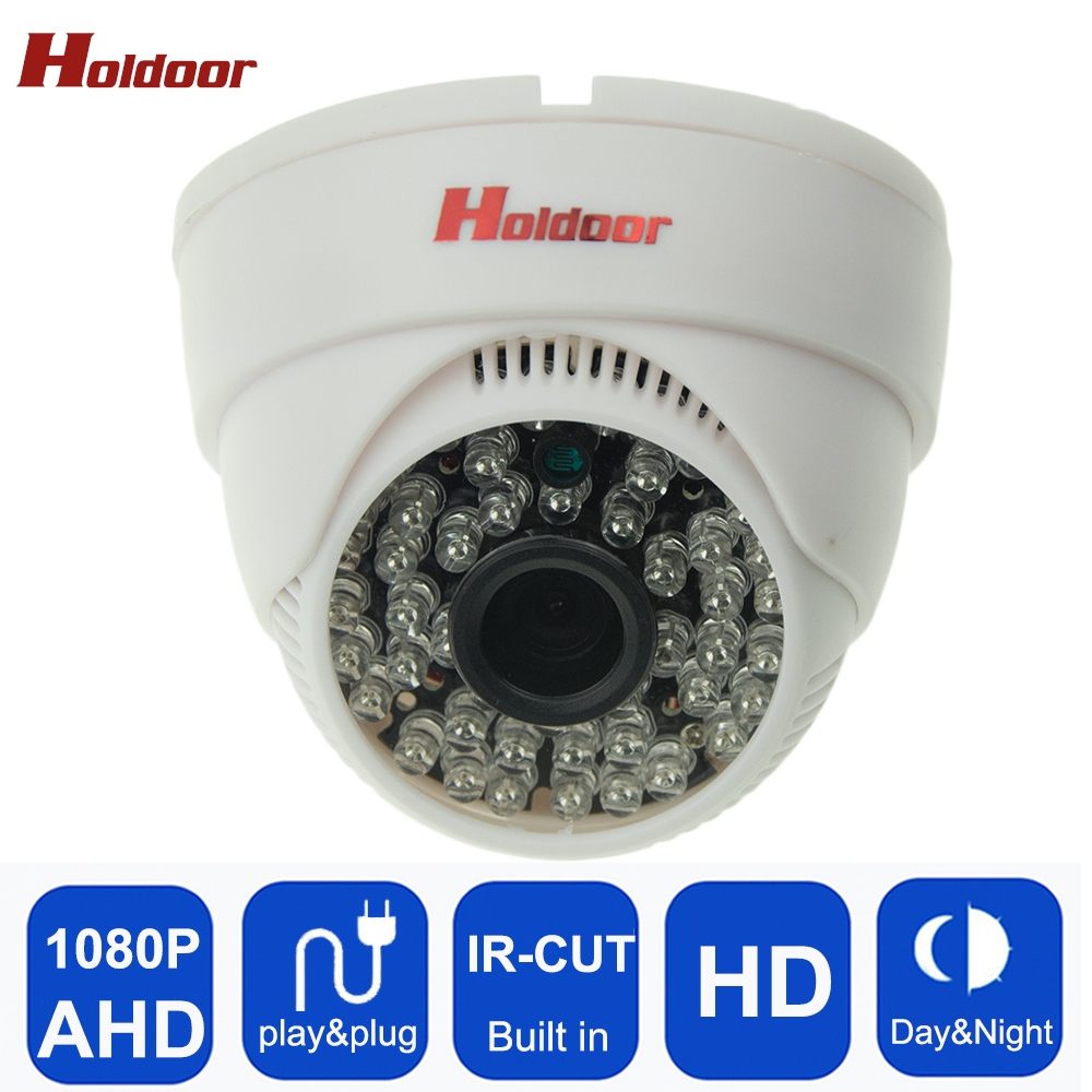 Holdoor Plastic Case Security Surveillance Dome Camera AHD 1080P HD 2.0MP Indoor IR Night Vision Plug and Play Mini Dome Camera free shipping hot selling 720p 20m ir range plastic ir dome hd ahd camera wholesale and retail