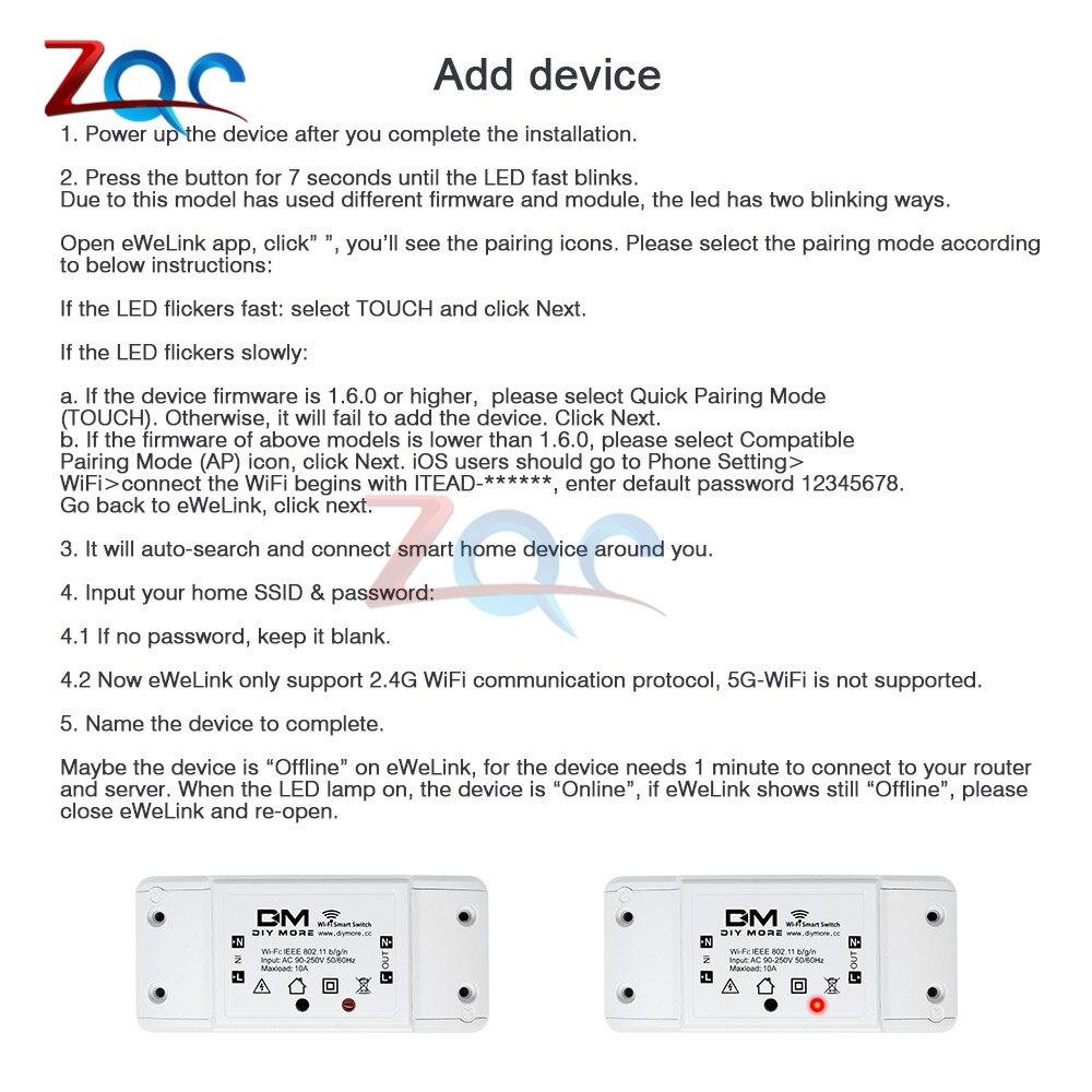 Itead Sonoff Smart Wifi Switch DIY Smart Wireless Remote Switch Domotica  Wifi Light Switch Smart Home Controller Work with Alexa