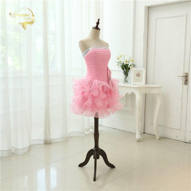 Ζεστό Πώληση Vestido De Festa Curto 2019 Ροζ - Ειδικές φορέματα περίπτωσης - Φωτογραφία 4