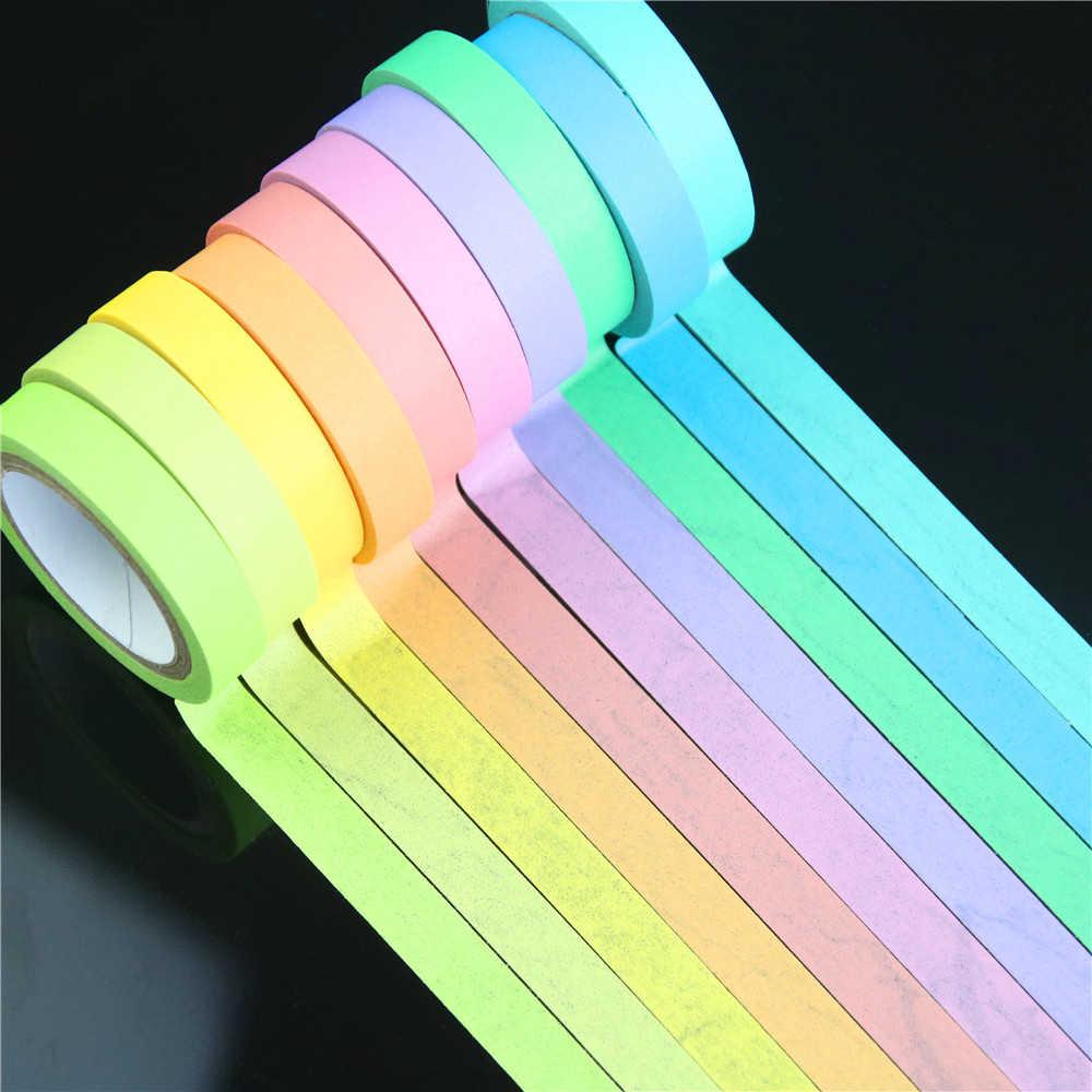 Новый 10 шт. Радужный рулон DIY васи клейкая бумажная лента для маскировки самоклеящаяся лента для скрапбукинга декоративная лента для скрапбукинга подарок