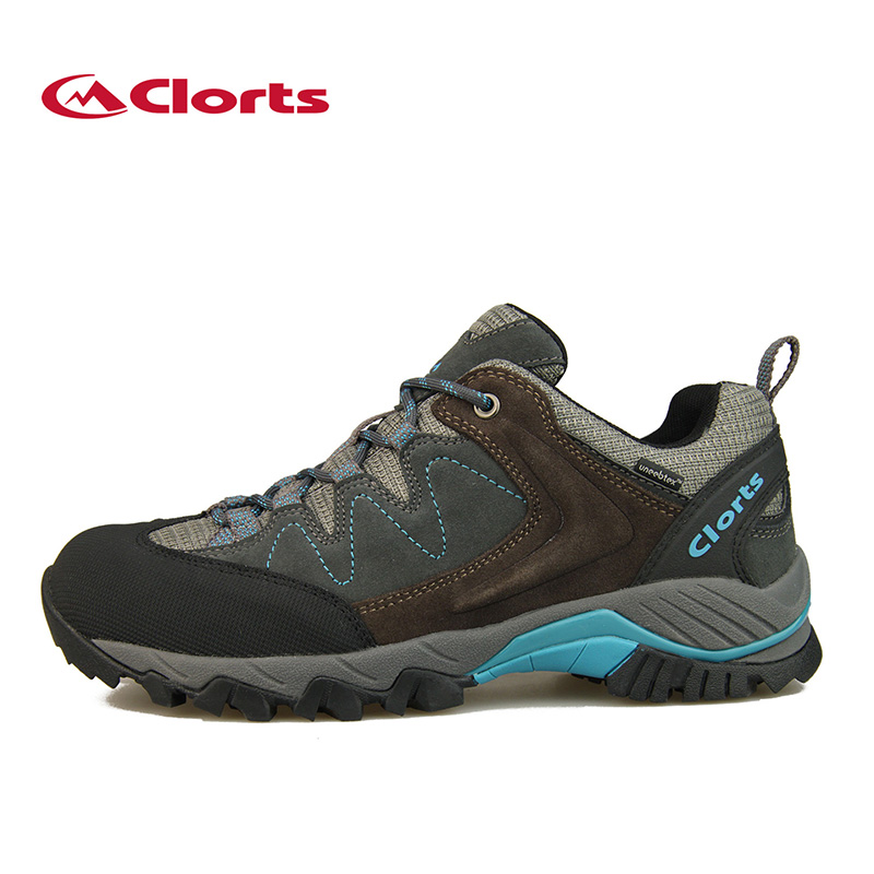 2016 Clorts Men Hiking Shoes Breathable Cow Suede Outdoor Hiking Boots Waterproof Sports Sneakers HKL-806 military men s outdoor cow suede leather tactical hiking shoes boots men army camping sports shoes