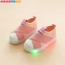 European fashion glowing children casual LED lighted solid g