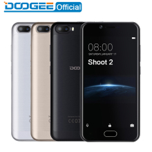DOOGEE Shoot 2 Dual Camera cellphones 5.0 Inch Android 7.0 Cellphone Dual SIM MTK6580 A Quad Core 3360 mAH WCDMA Smartphone