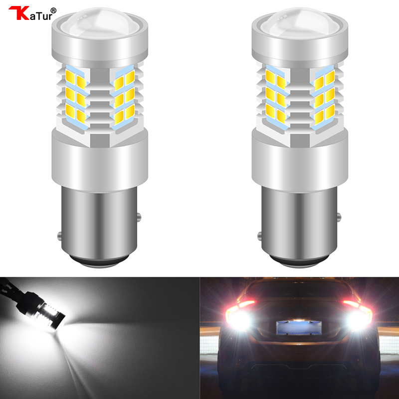 Katur 2Pcs 1156 <font><b>BA15S</b></font> P21W <font><b>LED</b></font> BAU15S PY21W BAY15D <font><b>LED</b></font> Bulb 1157 P21/<font><b>5W</b></font> <font><b>R5W</b></font> Auto Lamp Bulbs Car <font><b>LED</b></font> Light <font><b>12V</b></font> - 24V DRL Lights image