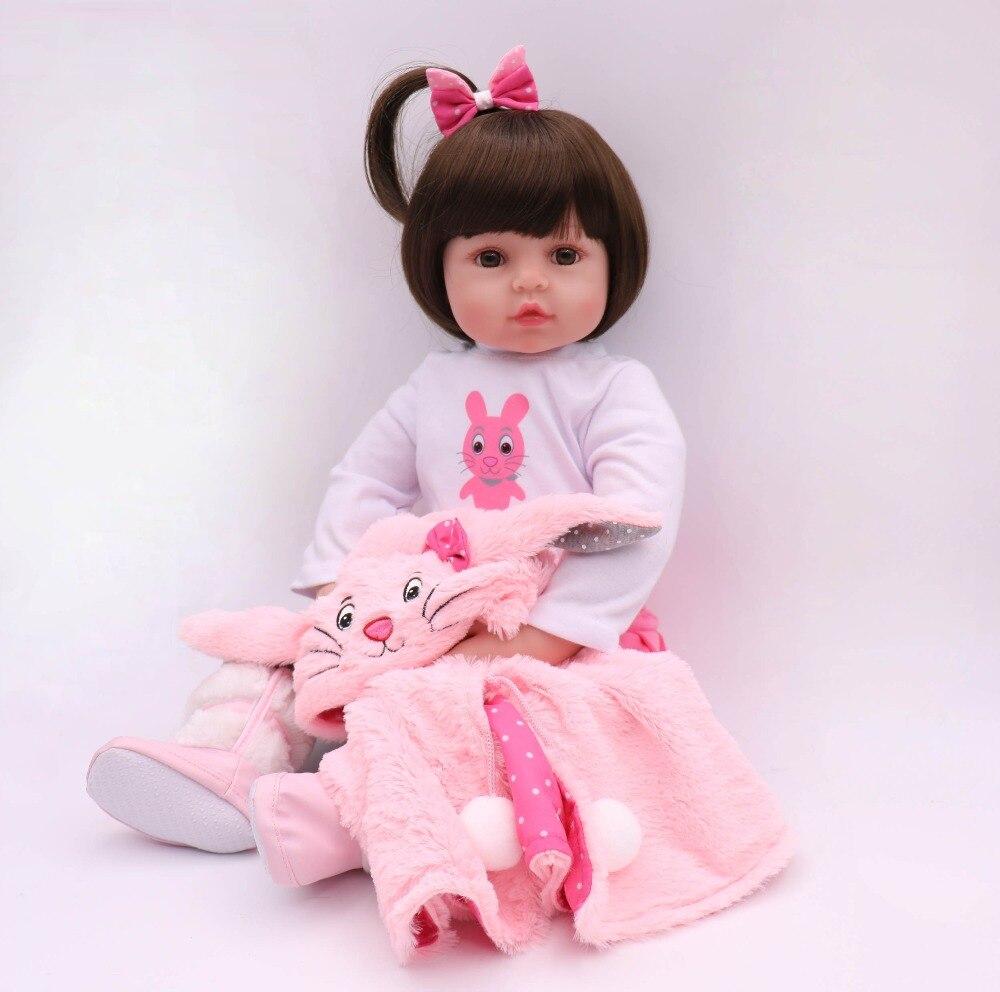 New big doll 60CM reborn toddler silicone reborn dolls girl baby reborn dolls children gift bonecas brinquedos bebe doll reborn-in Dolls from Toys & Hobbies    1