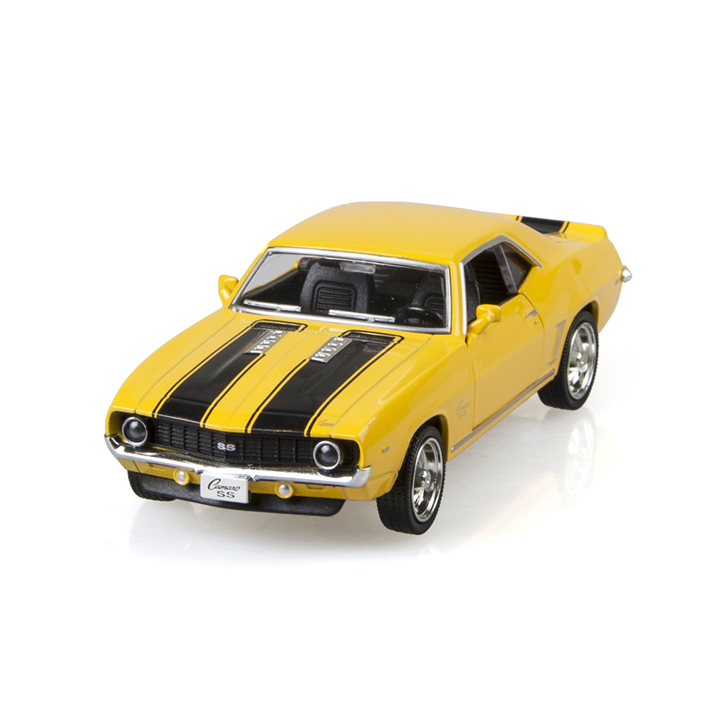 Camaro SS 1969 Yellow 1/36 alloy model car Kids Toys Cars Diecast Metal Pull Back Car Toy For Gift Collection