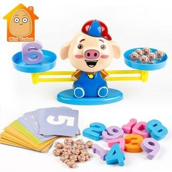 למידה מוקדמת חינוכי מתמטיקה צעצוע תינוק דיגיטלי חמוד חזיר איזון מתמטי בגיל רך חושי צעצועי סוג אבקוס לילדים