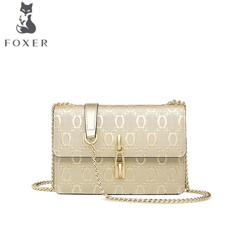 FOXER brand bags for women 2018 new women leather bag fashion chain small bag designer women handbags leather shoulder bag foxer 2017 new brand women leather bag fashion casual wild women leather handbags shoulder bag quality cowhide small bag