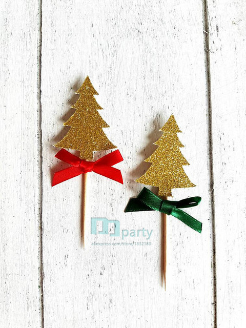 christmas tree cupcake toppers cupcake toppers cake toppers christmas decorations table decor - Christmas Toppers