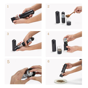 Image 5 - Battery Operated Salt and Pepper Grinder,  Adjustable Coarseness, Electronic Ceramic Core Shakers
