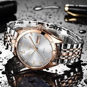 Image 5 - LIGE montre à Quartz pour femme, style or blanc, nouvelle collection 2019, de marque de luxe, horloge avec boîte, collection décontracté