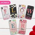 Чехол Jaomax с блестящим цветком для iPhone XS MAX XR 7 5 6s 8 Plus X чехлы с цветочными листьями для iPhone 8 персонализированный Чехол