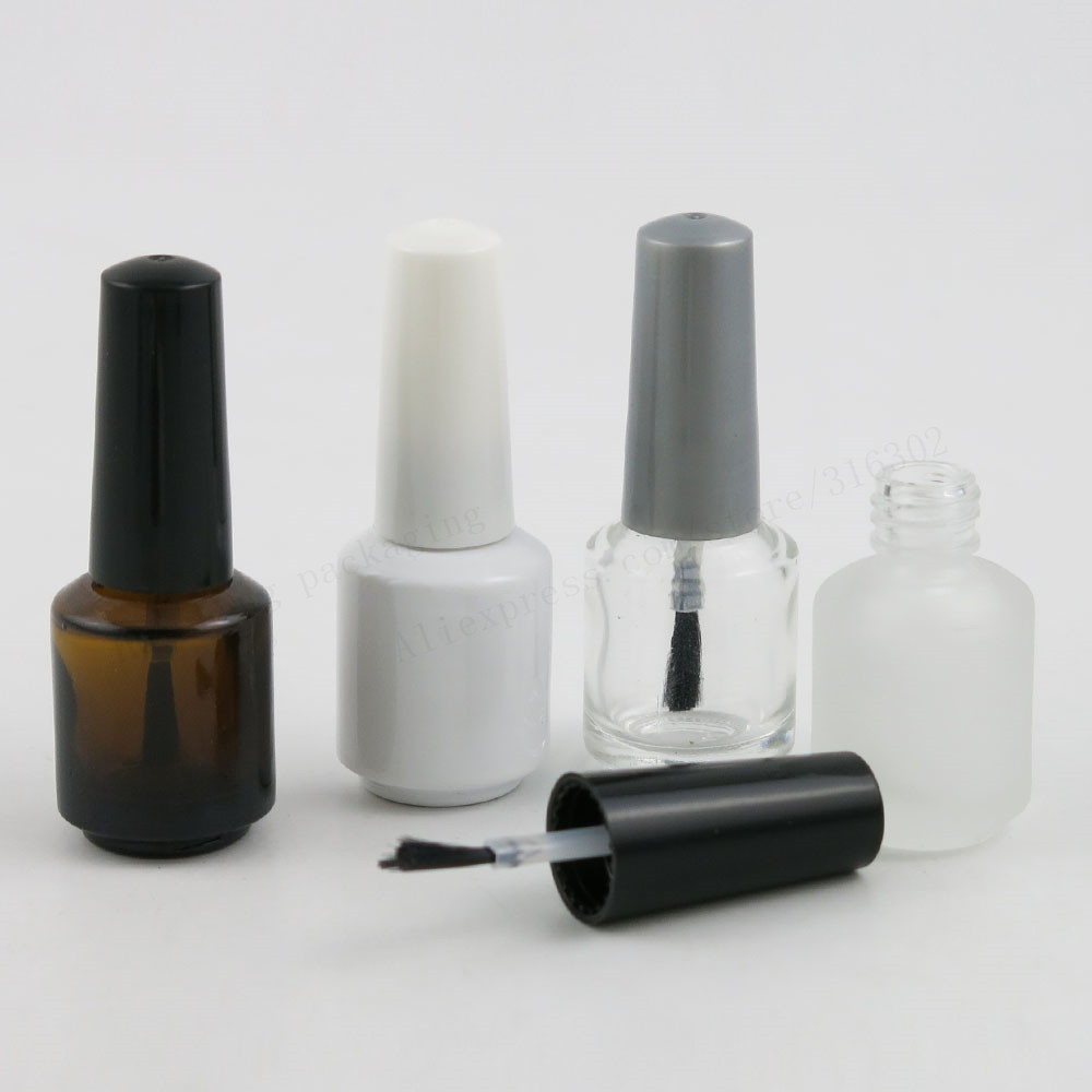 7ml paint white amber clear glass