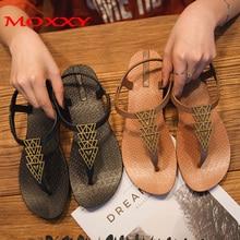 купить 2019 Brand Flat Beach Sandals Women Sandals Ladies Slippers Bohemian Sandles Female Flip Flops Summer Shoes Woman sandales femme по цене 760.28 рублей