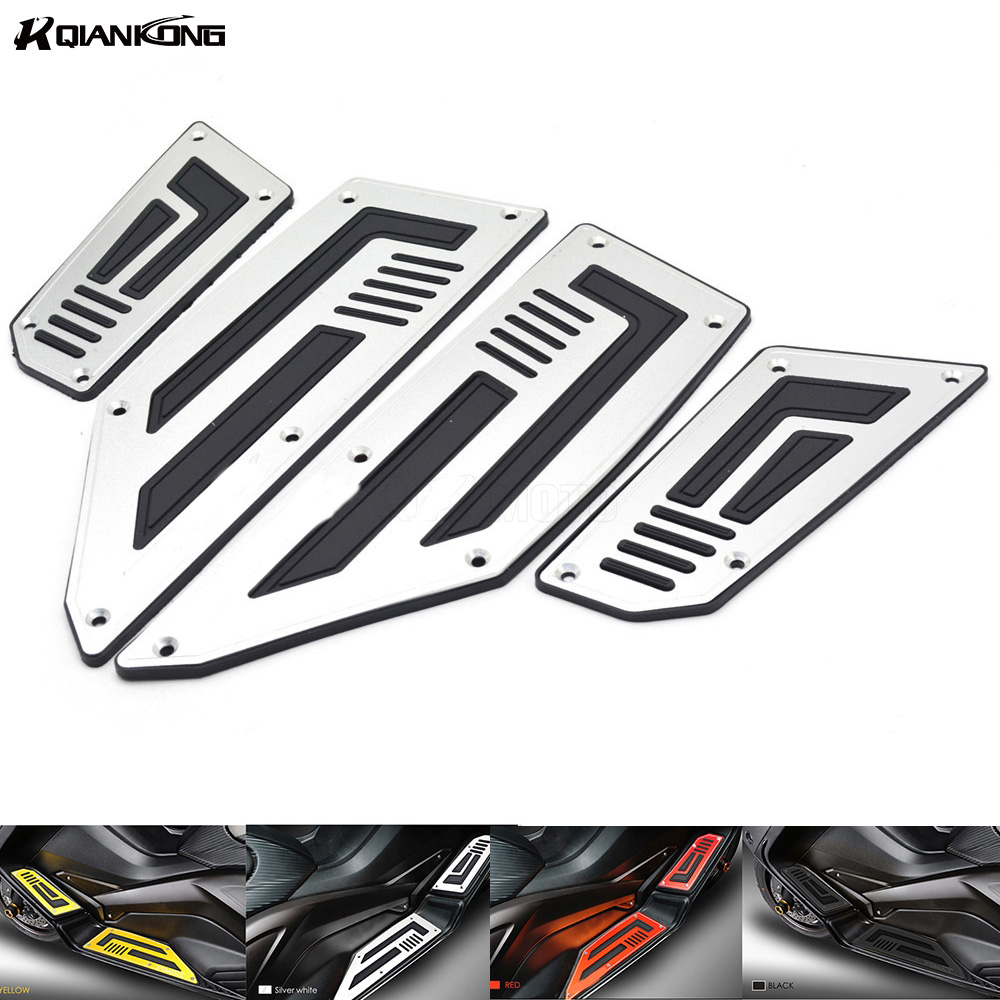 Footrest Motorcycle Accessories Footboard Step Autobike Moto Foot Plate For Yamaha T MAX T-MAX TMAX 530 2012 2013 2014 2015 2016