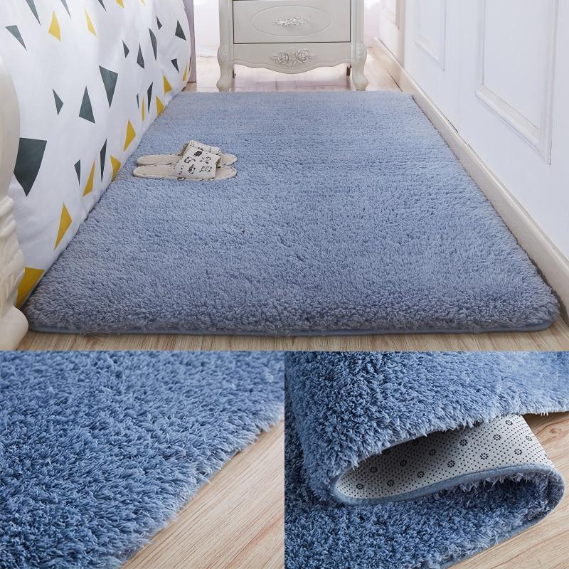 Plush Velvet Carpet Livingroom Soft Shaggy Carpet Bedroom ...