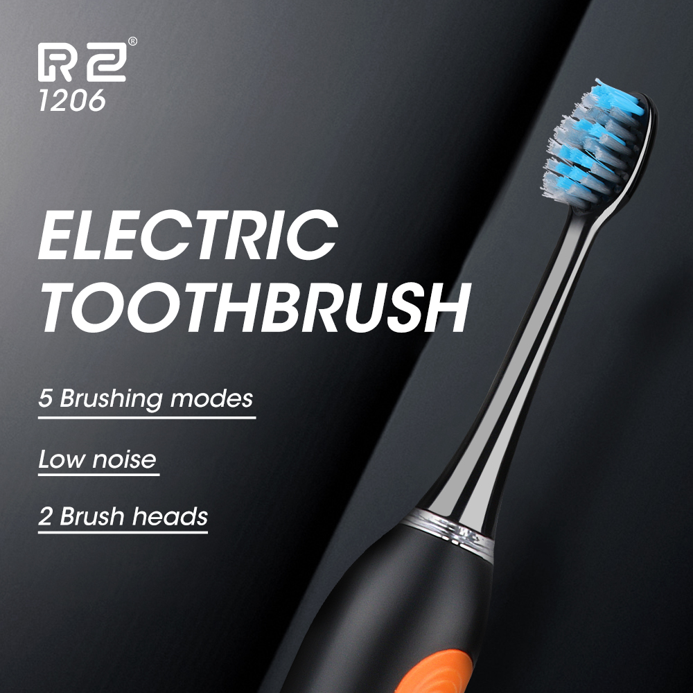 Sonic Electric Toothbrush Dental Ultrasound Clear tooth Smart Timer Electric Toothbrush 5 Mode 2 Replacement Electric Brush Head image