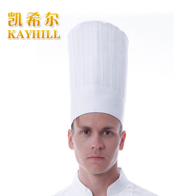 Hot Cook hat cloth cadet restaurant cap white nano oil waterproof chef hat
