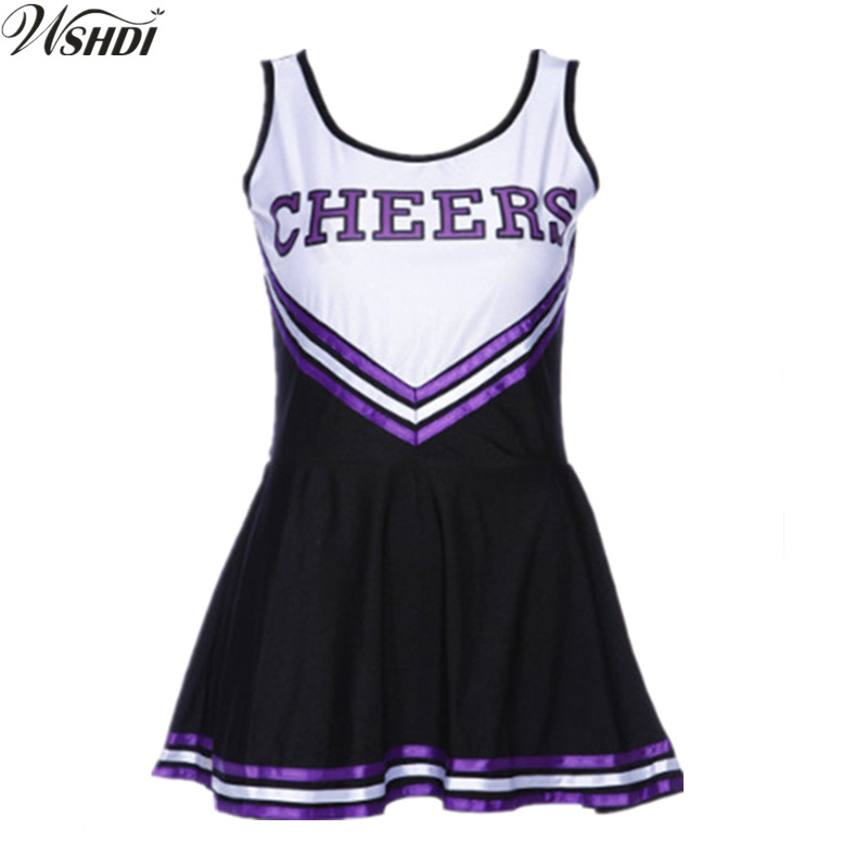 Sexy High School Cheerleader Costume Cheer Girls Uniform Cheerleading Party Fancy Dress