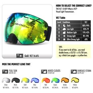 Image 5 - Брендовые лыжные очки COPOZZ, двухслойная противотуманная большая Лыжная маска UV400, очки для катания на лыжах, снегу, мужские и женские очки для сноуборда, аналогичные профессиональные