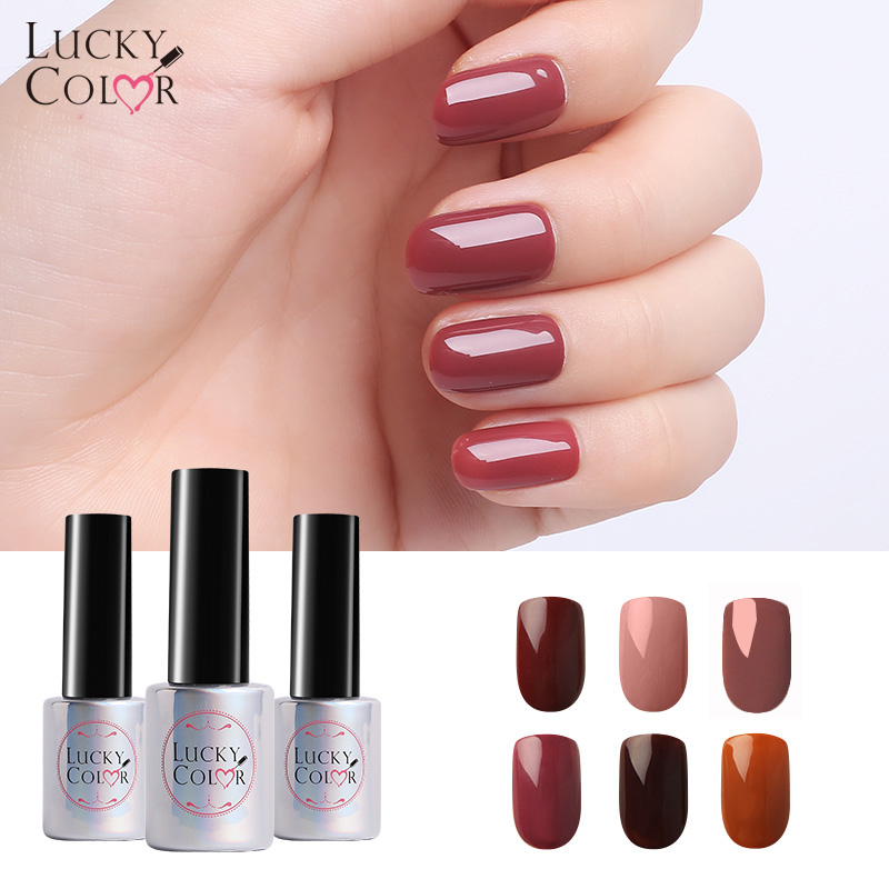 Chocolate Brown UV Gel Nail Polish For Nail Art Coffe Color Soak Off Gel Lacquer Long Lasting 10ml Bottle 6 Colors Available