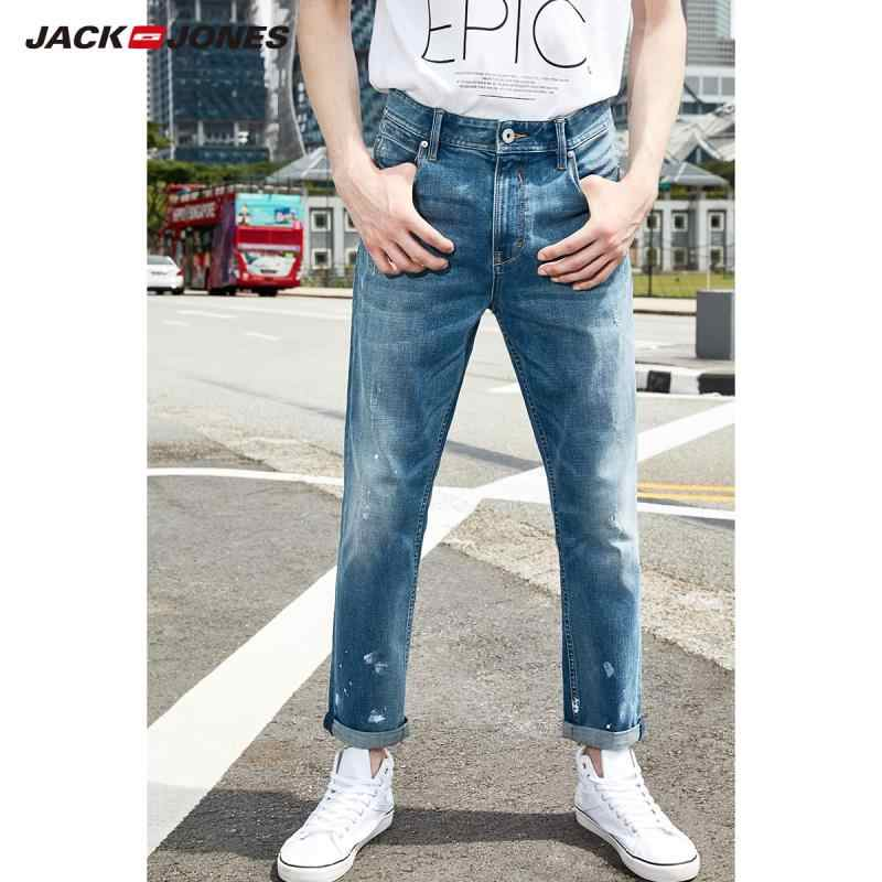Jack Jones Heren Katoen Skinny Cropped Jeans Enkellange Denim Broek Menswear 219232507