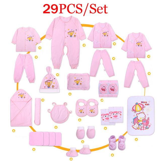 29PCS/set Newborn Baby Clothes Cotton Gift Set 0-6months