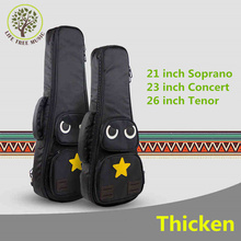 Thicken Cartoon Soprano Concert Tenor Ukulele Bag Case Backpack 21 23 26 Inch Ukelele Beige Mini Guitar Accessories Parts Gig