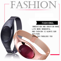 2017 Fashion Lady Smart Wristband with Heart Bluetooth Rate Monitor Blood Oxygen Pressure for iPhone Android pk Xiao Mi Band 2