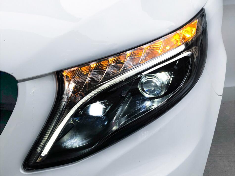 Video Bumper lamp for Vito V260 Headlight Car Styling 250D hid xenon car accessories 2016 2017
