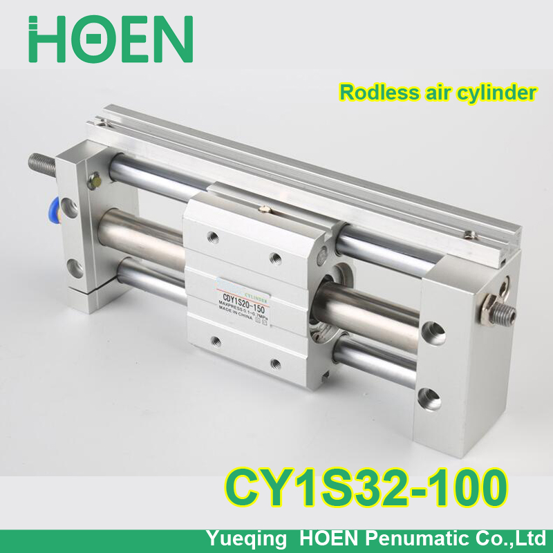 CY1S32-100 SMC type CY1S CY1B CY1R CY1L series 32mm bore 100mm stroke Slide Bearing Magnetically Coupled Rodless Cylinder cy1s 10mm bore air slide type cylinder pneumatic magnetically smc type compress air parts coupled rodless cylinder parts sanmin