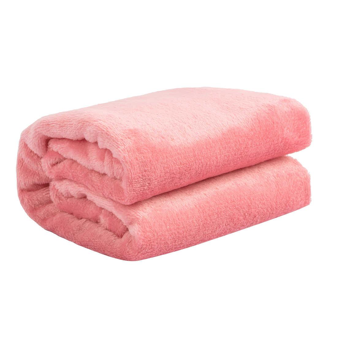 Домашний текстиль фланель Одеяло розовый очень теплый мягкий покрывало одеяла на диван/кровать/Самолет путешествия лоскутное покрывало