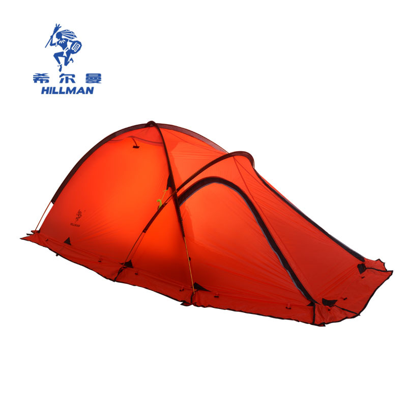 High quality double layer 2 person aluminum poles waterproo fultra-light  four season camping tent with snow skirt outdoor double layer 10 14 persons camping holiday arbor tent sun canopy canopy tent