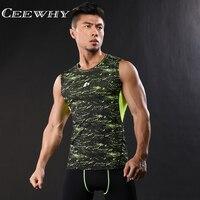 CEEWHY O-Neck Szybkoschnący męska Tank Tops Muscle Stringer Nowa Bawełniana Budowy Ciała i Fitness Pro Bojowy Druku Kamizelki odzież