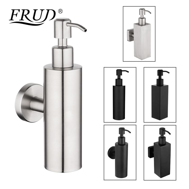 US $19.76 50% OFF|FRUD Stainless Steel Soap Dispenser Kitchen Sink Faucet  Bathroom Shampoo Box Soap Container Wall Mounted Detergent Bottle-in Liquid  ...