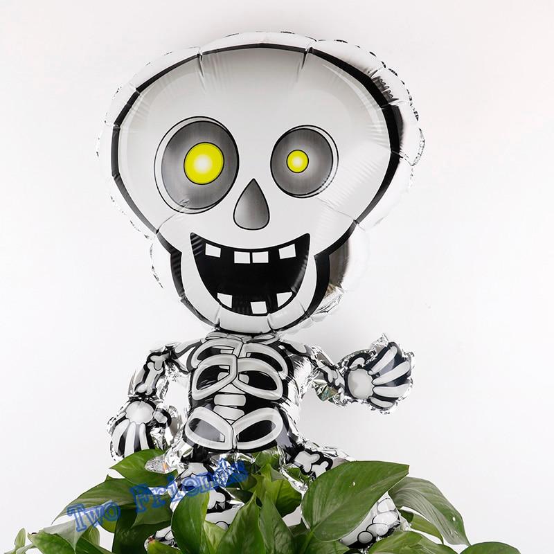 Nuevo estilo 20 unids 55x93 cm Baile Esqueletos globos de aluminio - Para fiestas y celebraciones