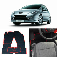 High Quality Full Set All Weather Heavy Duty Black Rubber Floor Mats For Peugeot 307